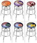 Choose NCAA A-M Team L7C3C Ultra D2 Chrome Double-Ring Bar Stool w/ Accent Ring