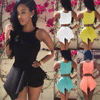 New Summer Womens Sleeveless Party Club Playsuit Rompers Beach Casual Jumpsuits