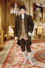 Baroque Style Open Front Jacket Handmade from Antique Velvet and Lined