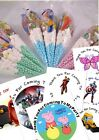 Filled Themed Personalised Sweet Cones Childrens Birthday Party Bags