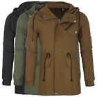 New Mens Puffer Winter Jacket Warm Padded Lined Slim Outer Wear Hooded Coat S~XL