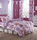 Catherine Lansfield Owl Pink Girls Purple Bedding Single Double Quilt Duvet Set