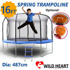 16ft Trampoline Round Safety Net+Spring Pad+Ladder Optional Basketball Set Kids