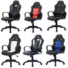PU Leather Office Chair Racing Rocking Designer Swivel Seat Computer Desk New