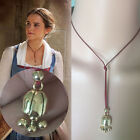 NEW BEAUTY And The BEAST Belle Belle's Lariat Pendant Necklace Cosplay