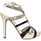 GUESS by Marciano sandalo donna pelle beige nera pitonata leather sandals €199