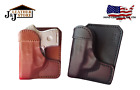 J&J S&W WALTHER PK380 WALLET STYLE CUSTOM FORMED PREMIUM LEATHER POCKET HOLSTER