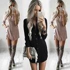New Fashion Women Casual V-Neck Long Sleeve Solid Button Chiffon Shirt TXCL01