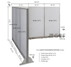 GOF L-Shaped Freestanding Partition 90D x 108W x 48H   Office,  Room Divider