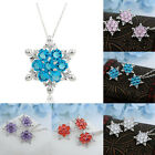 Vogue Women's Crystal Snowflake Bid Pendant Silver Plated Chunky Necklace Gift