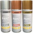 All Purpose Spray Paint Metallic Effect Interior & Exterior Metal Wood Plastic