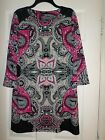 EUC Alfani Paisley Shift Dress Size Medium Women's
