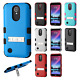 For LG K20 Plus Rubber IMPACT TUFF Hybrid KICKSTAND Case Cover + Screen Guard