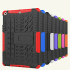 Rubberized Stand Shockproof Hybrid Hard Case Cover + Tempered Glass For iPad