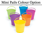 12 Bright Plastic Mini Pail Buckets - Choice of Colours