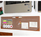 Long Layered Side Desk Pad Mini File Slots, Writing Planner Pad with Pen Holder