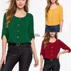 Fashion Women Lady Loose 3/4 Sleeve Casual Blouse Shirt Tops TXCL01