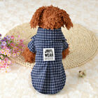 Pet Grid Formal Attire T-shirt Costume Cat Little Dog Clothes Summer Apparel