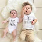 Little Brother Baby Boy Romper Bodysuit Big Brother T shirt Tops Outfit US Stock