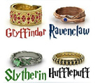Harry potter Inspired Rings Gryffindor Ravenclaw Slytherin Hufflepuff Size 7-10