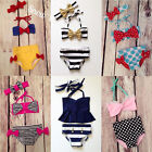 Toddler Baby Kids Girls Bikini Bathing Suit Monofin Swimwear Swimsuit US Stock