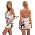 Summer Women Backless Floral Bodycon Party Jumpsuit&Romper Trousers TXCL