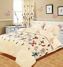 Butterfly Glaze Duvet Quilt Cover Bedding Set w/ Pillowcases Curtains All Sizes