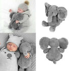 USA Stuffed Elephant Pillow Cushion Stuffed Doll Toy Baby Kids Soft Plush Gifts