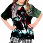 Spear Warrior Next To Black Wolf Girls Kid Youth T-Shirt Tee wd1 agp43839