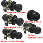 Round Door Knobs Security Keyed Entry Lock set Keyless Privacy Passage Dummy Lot