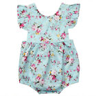 US Newborn Baby Girls Floral Romper Bodysuit Jumpsuit Outfits Sunsuit Clothes