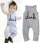 New Toddler Kids Baby Girl Boy Romper Jumpsuit Playsuit Outfits Clothes US Stock
