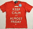 Justice boys shirt glow in the dark Friday orange tee size 5 6 7 8 Brothers NWT