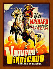 Choose Paper or Canvas POSTER.Cowboy Western.Spanish movi...