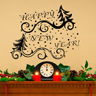 Christmas Tree Wall Decal Happy New Year Sticker Holiday Design Home Decor MA302
