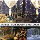 Waterproof 304led Curtain Fairy String Lights Wedding Party Xmas Decor Waterfall