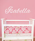 Girls Name Wall Decal Personalized Baby Name Vinyl Decal Sticker Nursery ZX80