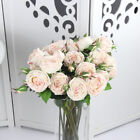 Real Touch Wedding Party Home Decor Artificial Fake Silk Rose Flower Bud Bouquet