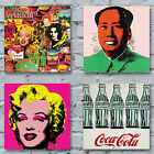 Andy Warhol Art Canvas Prints - Pop Art Campbells Soup Jagger Marilyn Banana Mao