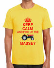 KEEP CALM & FIRE UP THE MASSEY TSHIRT classic ferguson 135 tractor t shirt gift