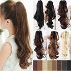 Cheap Price Long Clip in on Ponytail Hair Extensions Claw/wrap Around hairpiece