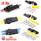 10 Kit 2/3/4 Pin Way Super Seal Car Waterproof Electrical Wire Connector Plug UK