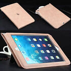 Shockproof Smart Leather Card Wallet Strap Stand Case Cover For iPad Air/Mini 4