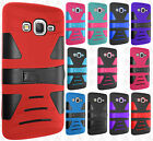 Samsung Galaxy Grand Prime Hard Gel Rubber KICKSTAND Case Phone Protector Cover
