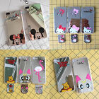 Mirror Disney Minnie Mickey Mouse Winnie Finger Stand TPU Case Cover For iPhone