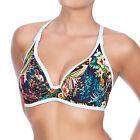 Freya Swimwear Club Tropicana Convertible Banded Halter Bikini Top Midnight 3985
