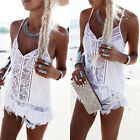 Fashion Women Summer Chiffon Lace Vest Top Sleeveless Blouse Tank Tops T-Shirt
