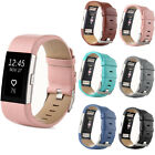 2017 New Leather Watch Strap Bracelet Replacement Wrist Band For Fitbit Charge 2