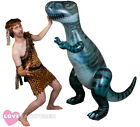 CAVEMAN COSTUME PLUS 6FT INFLATABLE DINOSAUR T-REX PROP PREHISTORIC FANCY DRESS