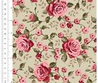LARGE PINK ROSES - LINCOLN LANE - GINGER LILY STUDIOS - 100% cotton fabric